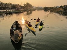 Kayak tours help clean up river in Hoi An
