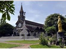 Unique wooden Catholic Church in Kon Tum