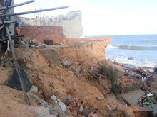 Severe erosion threatens central coastal province