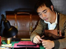 Young man's passion for leather crafting