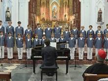 The Monaco Boys' Choir perform in Hanoi