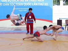 Junior traditional wrestling tournament ongoing in Hanoi
