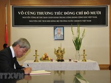Condolence books for former Party leader opened abroad