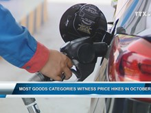 Most goods categories witness price hikes in October