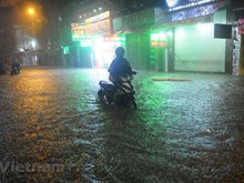 Ho Chi Minh City seriously flooded due to storm Usagi