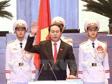 Newly-elected President sworn into office