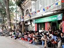 Roadside cafes in Hanoi