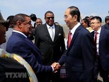 President Tran Dai Quang begins State visit to Ethiopia