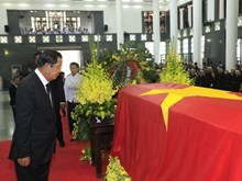 Foreign delegations pay homage to President Tran Dai Quang