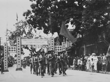 Greetings for victory troops in Hanoi's liberation day