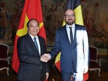 Vietnamese, Belgian PMs hold talks