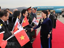 National Assembly Chairwoman arrives in Seoul
