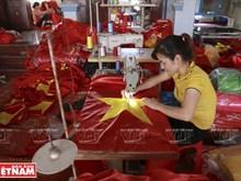 Old flag-making village in Hanoi