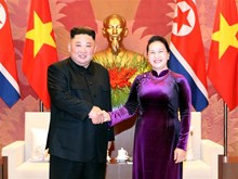 Legislative leader welcomes DPRK Chairman