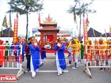 Whale worshipping festival in Da Nang