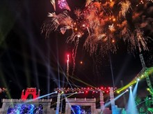 Fireworks display celebrates Hung Kings Temple Festival
