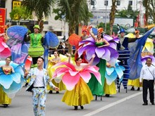 Street carnival in Sam Son