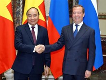 Vietnamese, Russian PMs hold talks