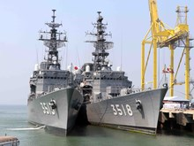 Vessels of Japan Maritime Self-Defence Force visit Da Nang