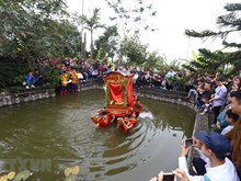 Palanquin procession prays for prosperity