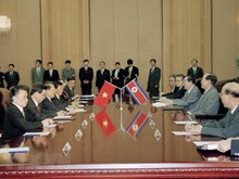 Photos of President Tran Duc Luong's DPRK visit in 2002