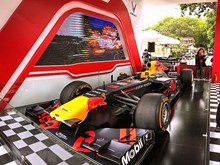 Formula One racing car on display in Hanoi