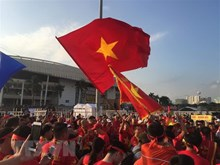 My Dinh stadium blazes red ahead of Vietnam's match vs Malaysia