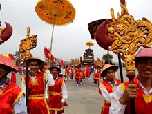 Thousands gather for palanquin procession