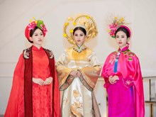 Miss Vietnam 2018 top 3 shine in Ao Dai