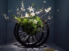 Vietnamese flower arrangements displayed at Japan exhibition