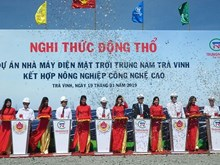 Work starts on 152.7-million-USD solar power plant in Tra Vinh