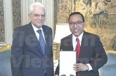 Vietnamese Ambassador bids farewell to Italian President