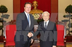 Party chief welcomes UK Prime Minister