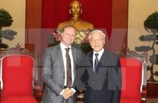 Party leader meets outgoing Belgian ambassador