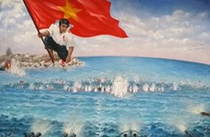 Replica of war painting to be made with gems, coral