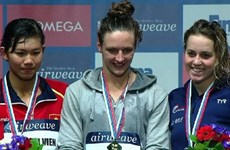 Swimmer Vien wins silver at 2015 FINA World Cup