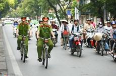 Hanoi pilots bike patrol in urban districts