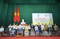 Japanese NGO donates 30 wheelchairs to the needy in Thai Binh