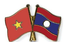 Politburo member Le Hong Anh attends Laos's 40th anniversary