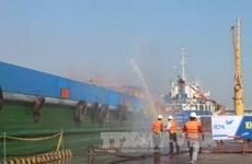 Dong Nai holds rehearsal of oil spill, fire-fighting response