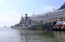Russian naval vessels visit Da Nang