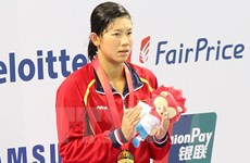 Swimmer Anh Vien named Vietnam's 2015 best athlete