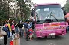 HCM City: Over 4,300 free Tet coach tickets offered to workers