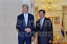 Cambodia PM talks with US Secretary on regional issues