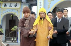 Hanoi leader makes pre-Tet visit to top Buddhist monk