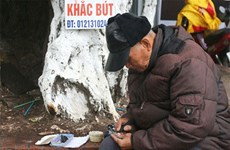 Hoan Kiem carver's craft spans five decades