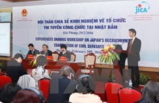 Vietnam, Japan share experience in civil service exams
