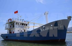 Quang Tri launches first steel-hulled fishing boat under Decree 67