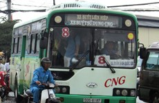CNG-fuelled buses take to HCM City streets