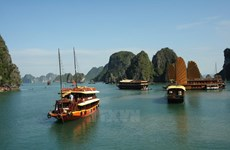Less wooden ships to be seen in Ha Long Bay